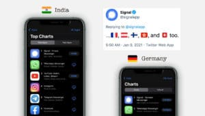 Signal overtakes WhatsApp in Android & iOS Top Chart